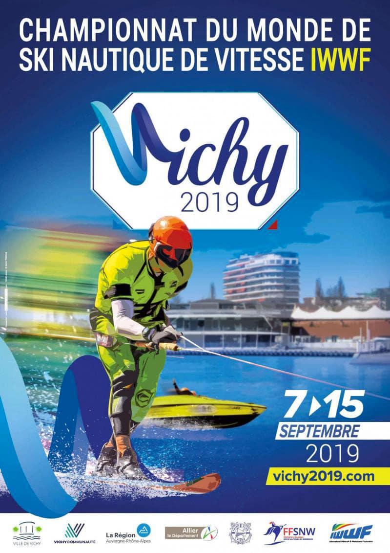 Championnats du Monde de Ski Nautique de Vitesse 2019 affiche