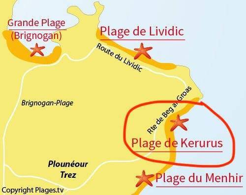 Map beach kerurus